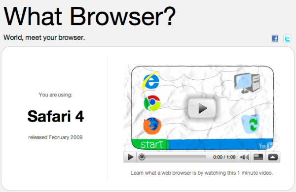 Translation: What Browser, dumbass?